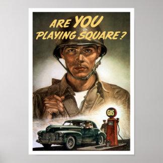 Bent u SpeelVierkant -- Oorlog van de wereld Twee Poster