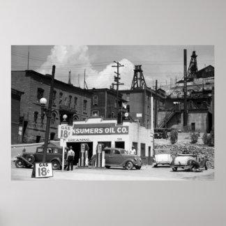 Benzinestation, 1939 poster