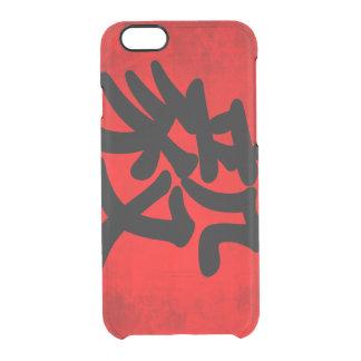 Bepaling in Traditionele Chinese Kalligrafie Doorzichtig iPhone 6/6S Hoesje