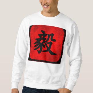 Bepaling in Traditionele Chinese Kalligrafie Trui