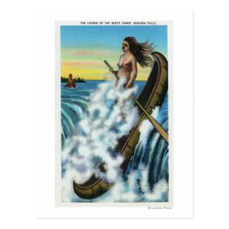 Bepaling van de Legende van de Witte Kano Briefkaart