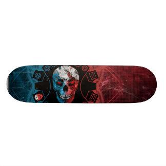 BEPERKTE UITGAVE:  Blauwe & Rode Schedel 20,0 Cm Skateboard Deck