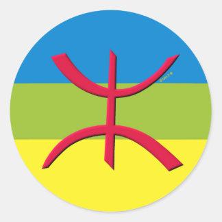berbere vlag amazigh ronde sticker