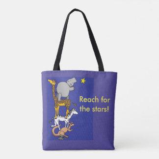 bereik voor de het bolsazak van sterren dierlijke draagtas
