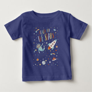 Bereik voor de Sterren - RuimteLuiaard Baby T Shirts