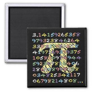 Berekende pret en Kleurrijke bord-Stijl Pi Magneet