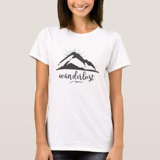 Berg met Zonnestralen - de Typografie van de T Shirt