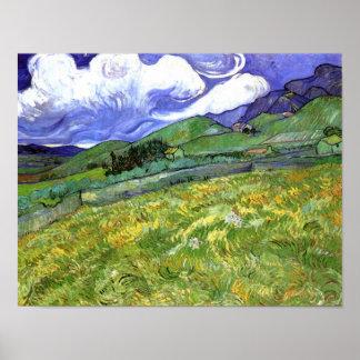 Bergachtig Landschap, Van Gogh Fine Art. Poster