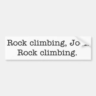 Bergbeklimming, Joel. bumper sticker Bumpersticker