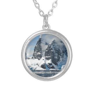 bergen ijs bergs zilver vergulden ketting