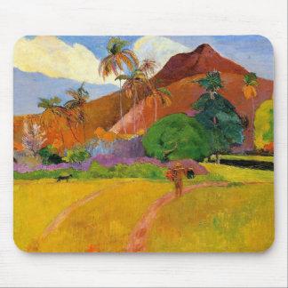 """""""Bergen in Tahiti"""" - Paul Gauguin Mousepad Muismat"""