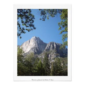 """""""Bergen van"""" Beroeps Yosemite Foto Afdrukken"""