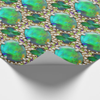 Bergkristallen Groene Jeweled Mandala Inpakpapier