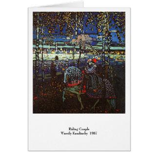 Berijdend Paar, Wassily Kandinsky 1907 Wenskaart