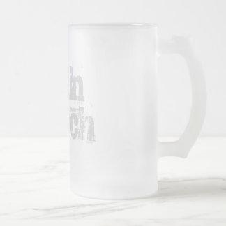 Berijpte het glasmok van hersenen Bleekmiddel Matglas Bierpul