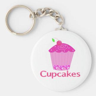 Berijpte Roze Cupcake Sleutel Hangers