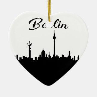 Berlijn Keramisch Hart Ornament