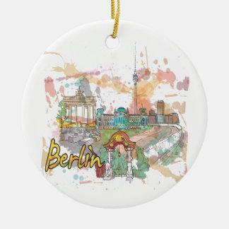 Berlijn Rond Keramisch Ornament