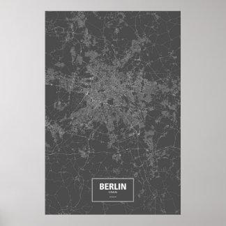 Berlijn, wit Duitsland (op zwarte) Poster