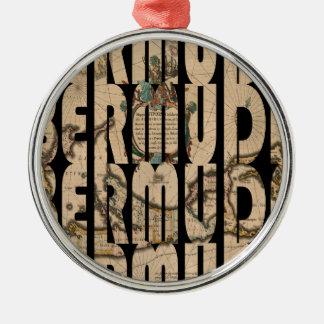 bermuda1662 1 zilverkleurig rond ornament