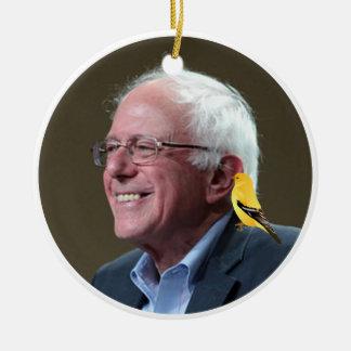 Bernie en Vogel Rond Keramisch Ornament