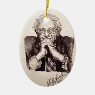Bernie Sanders door Billy Jackson Keramisch Ovaal Ornament