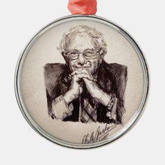 Bernie Sanders door Billy Jackson Zilverkleurig Rond Ornament