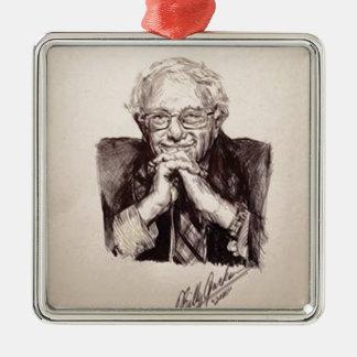 Bernie Sanders door Billy Jackson Zilverkleurig Vierkant Ornament
