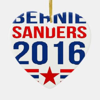 Bernie Sanders Keramisch Hart Ornament