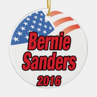 Bernie Sanders voor president in 2016 Rond Keramisch Ornament