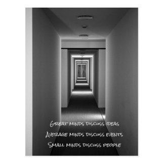Beroemd citaat: ideeën, gebeurtenissen, mensen briefkaart