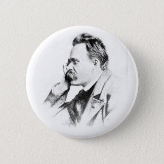 beroemde denker: Friedrich Nietzsche Ronde Button 5,7 Cm