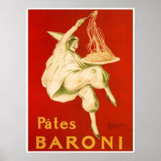 Beroemde Italiaanse de deegwarenadvertentie van Poster