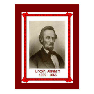 Beroemdheden, Abraham Lincoln 1809-1865 Briefkaart