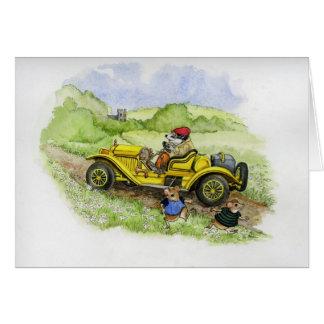 Bertie Badger in zijn nieuwe auto Briefkaarten 0