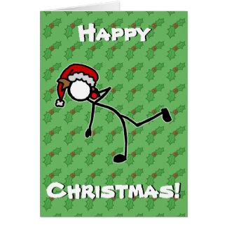 Bes van de Hulst van Kerstmis van Stickman van de Briefkaarten 0