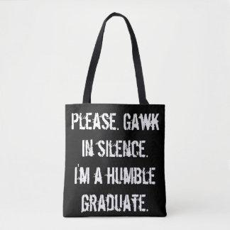 Bescheiden Gediplomeerde - gaap in Stilte Draagtas
