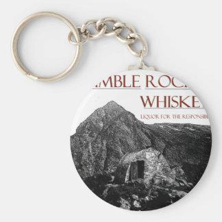 bescheiden verantwoordelijke wiskey basic ronde button sleutelhanger