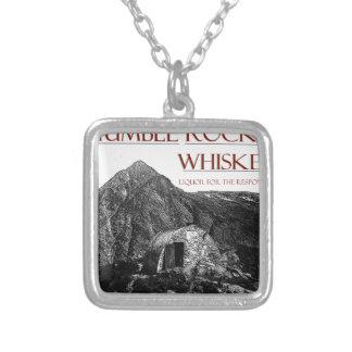 bescheiden verantwoordelijke wiskey zilver vergulden ketting