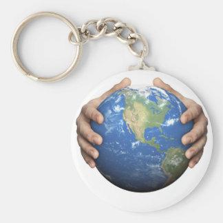 Bescherm de Aarde Basic Ronde Button Sleutelhanger