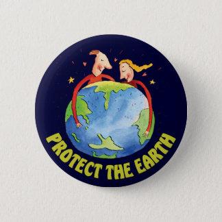 Bescherm de Aarde Ronde Button 5,7 Cm