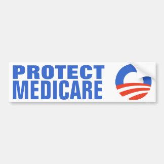 Bescherm Gezondheidszorg voor bejaarden Obama 2012 Bumpersticker