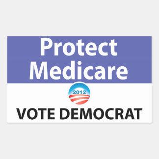 Bescherm Gezondheidszorg voor bejaarden: Stem over Rechthoekige Sticker