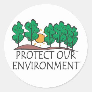 Bescherm Ons Milieu Ronde Sticker