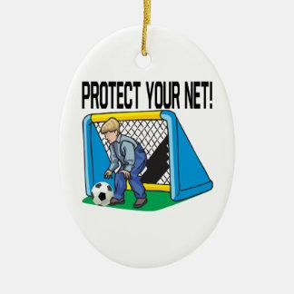 Bescherm Uw Net Keramisch Ovaal Ornament