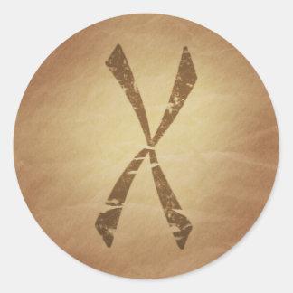 Bescherming tegen de Noordse Magische Charmes van Ronde Sticker