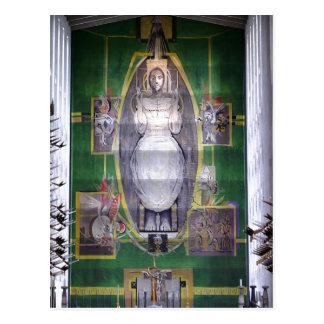 Beschrijving Christus in Glorie, de kraan van Briefkaart