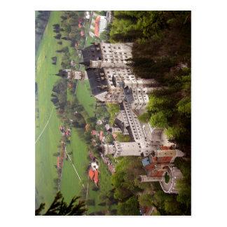 Beschrijving het kasteel Neuschwanstein. De Auteur Briefkaart
