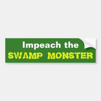 Beschuldig het Monster van het Moeras Bumpersticker