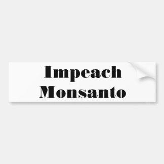 Beschuldig Monsanto Bumpersticker